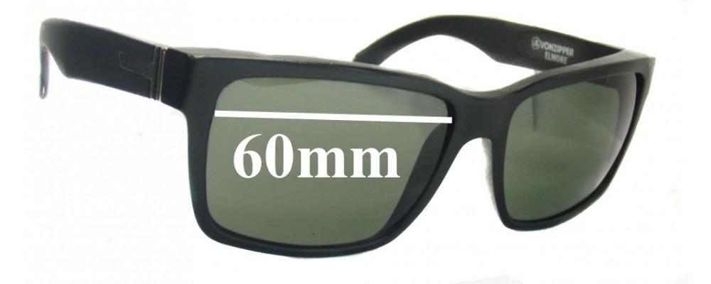 SFX Replacement Sunglass Lenses fits Von Zipper Elmore 60mm Wide