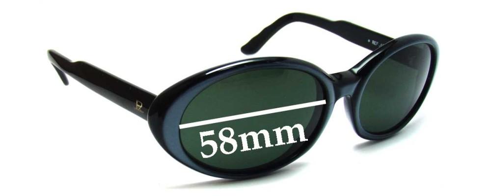 Vuarnet Pouilloux REF 074 Replacement Sunglass Lenses - 58mm wide