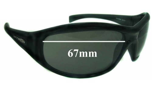 Sunglass Fix Replacement Lenses for Arnette AN4054 - 67mm Wide