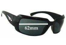 Arnette AN4076 Infamous Replacement Sunglass Lenses - 62mm wide