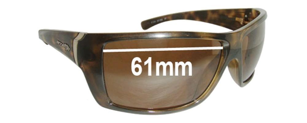 Arnette Defy AN4124 Replacement Sunglass Lenses - 61mm Wide