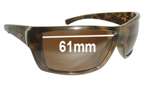 Arnette Defy AN4124 Replacement Sunglass Lenses - 61mm Wide