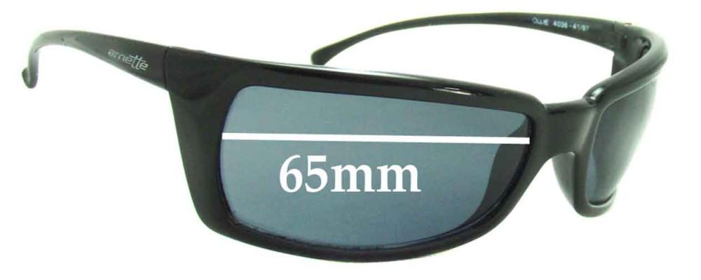 Arnette Ollie AN4036 Replacement Sunglass Lenses - 65mm wide
