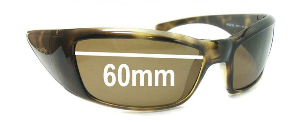 Arnette Rage XL AN4077 Replacement Sunglass Lenses - 60mm wide