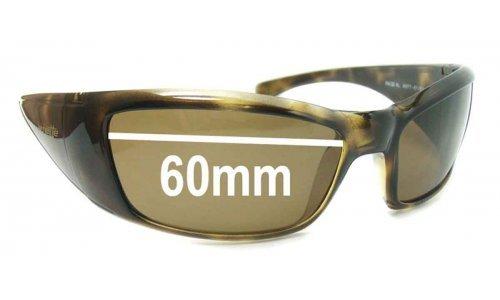 Sunglass Fix Replacement Lenses for Arnette Rage XL AN4077 - 60mm wide
