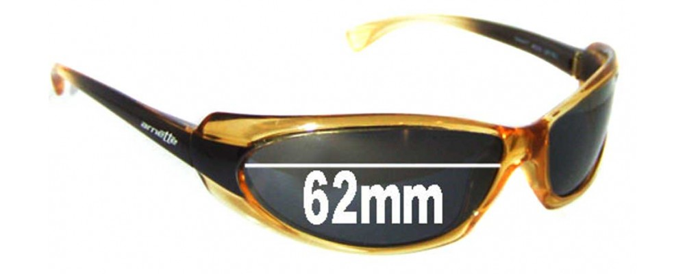 Arnette Shaft AN4022 Replacement Sunglass Lenses - 62mm Wide