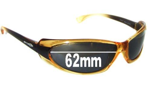Arnette Shaft AN4022 Replacement Sunglass Lenses - 62mm Wide