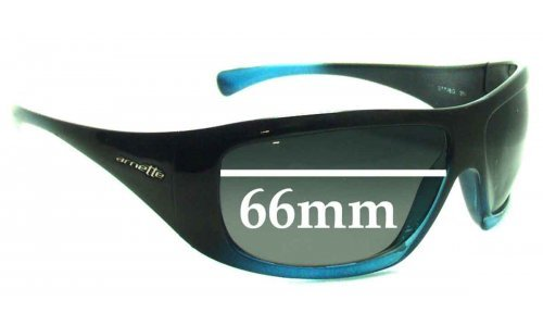 Arnette AN4084 Wrath Replacement Sunglass Lenses- 66mm wide