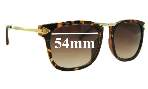 Arrow Decoration 8759 Replacement Sunglass Lenses - 54mm wide