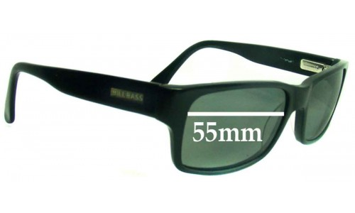 Bill Bass Justin Replacement Sunglass Lenses - 55mm wide