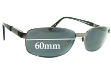 Bill Blass 60-18-130 25046 Replacement Sunglass Lenses - 60mm wide