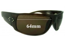 Sunglass Fix New Replacement Lenses for Blinde Unknown Model New Sunglasss Lenses - 64mm Wide