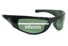 Sunglass Fix New Replacement Lenses for Blue Ice Loade New Sunglass Lenses- 68mm Wide