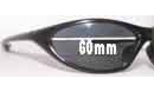 Blue V Replacement Sunglass Lenses - 60mm wide