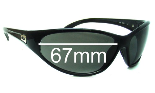 New Style Bolle Boa Replacement Sunglass Lenses - 67mm Wide