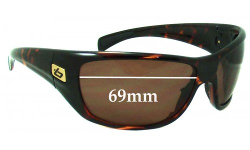 Bolle Cobra Replacement Sunglass Lenses - 69mm Wide
