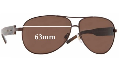 Burberry B 3029 Replacement Sunglass Lenses - 63mm Wide