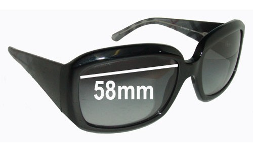 Burberry B 4039 Replacement Sunglass Lenses - 58mm Wide