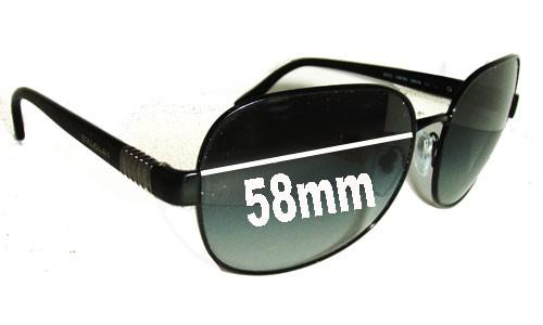 Bvlgari 6042 Replacement Sunglass Lenses - 59mm wide