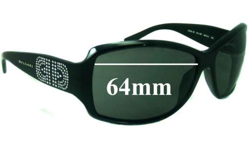 Bvlgari 8004-B Replacement Sunglass Lenses 64mm wide