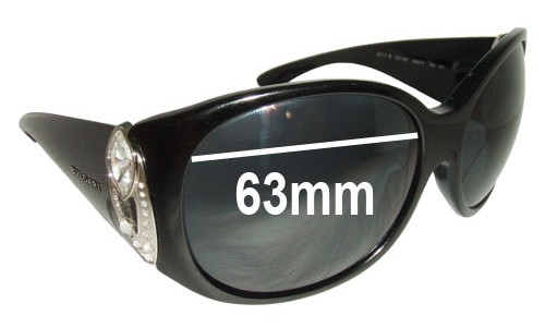 Bvlgari 8017-B Replacement Sunglass Lenses - 63mm wide