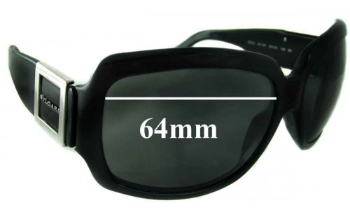Bvlgari 8024 Replacement Sunglass Lenses 64mm wide