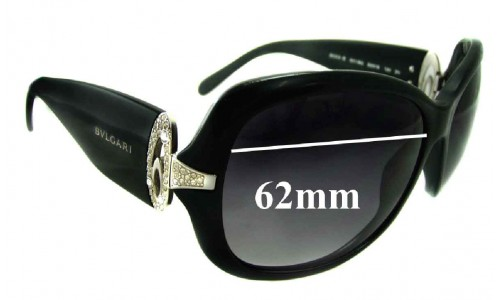 Bvlgari 8044-B Replacement Sunglass Lenses 62mm wide