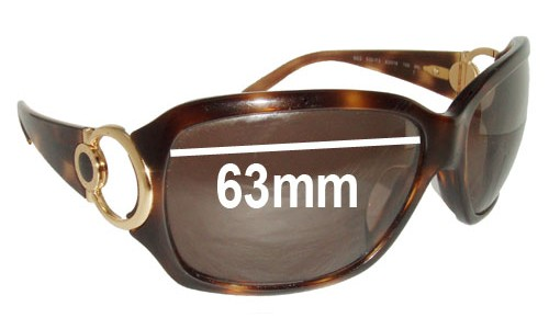 Bvlgari 862 Replacement Sunglass Lenses - 63mm wide