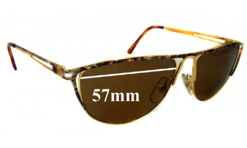 BY 18 - 57mm wide Replacement Sunglass Lenses