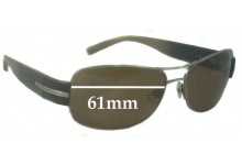 Calvin Klein Unknown Model Replacement Sunglass Lenses - 61mm wide