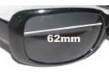 Sunglass Fix New Replacement Lenses for Calvin Klein CK3059S - 62mm Wide