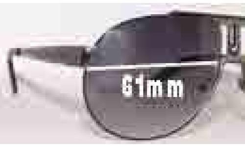 Carrera Panamerica Replacement Sunglass Lenses - 61mm Wide