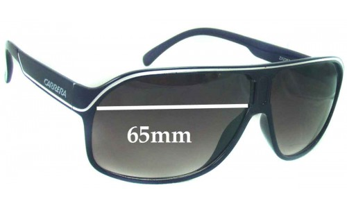 Carrera ZX2367 Replacement Sunglass Lenses - 65mm wide