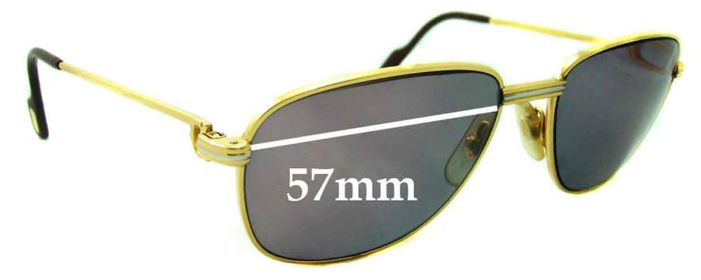 Cartier CO710 Replacement Sunglass Lenses - 57mm wide