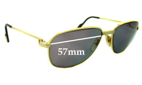 Cartier CO710 New Sunglass Lenses - 57mm wide
