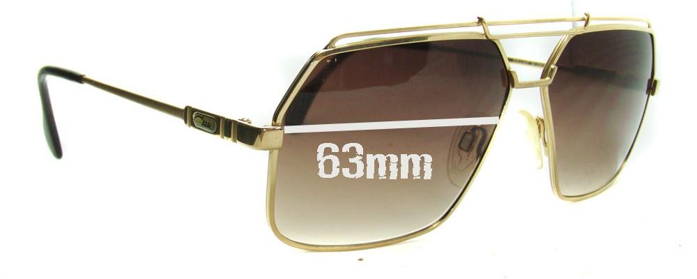 a66c95733aa Cazal Mod 734 Replacement Sunglass Lenses - 63mm Wide