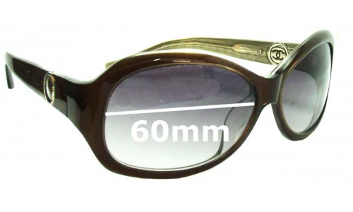 Chanel 132 Replacement Sunglass Lenses - 60mm wide