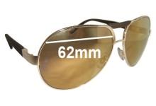 Chopard SCH 817 Replacement Sunglass Lenses - 62mm wide