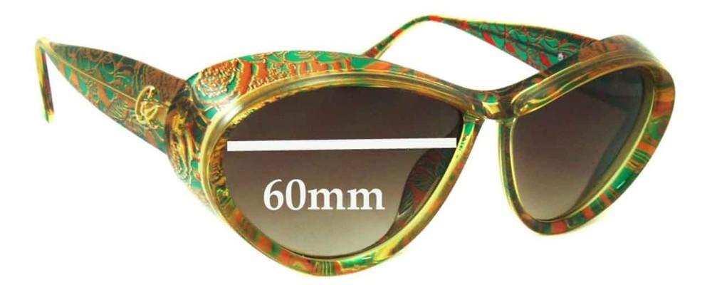 Christian Lacroix 7366 Replacement Sunglass Lenses - 60mm Wide