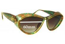Christian Lacroix 7366 Replacement Sunglass Lenses - 60mm Wide