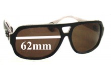 Chrome Hearts Boink Replacement Sunglass Lenses - 62mm wide