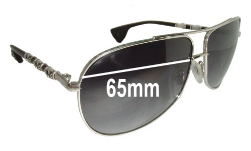 Chrome Hearts The Beast Replacement Sunglass Lenses - 65mm wide (Note - Theses do NOT fit The Beast I or Beast II frames)