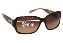 Sunglass Fix New Replacement Lenses for Coach S471 Peony - 59mm Wide