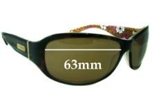 Coach Sarah Replacement Sunglass Lenses - 63mm wide