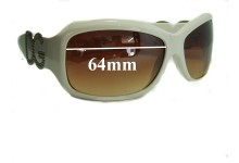 Dolce & Gabbana DG187 Replacement Sunglass Lenses- 64mm Wide