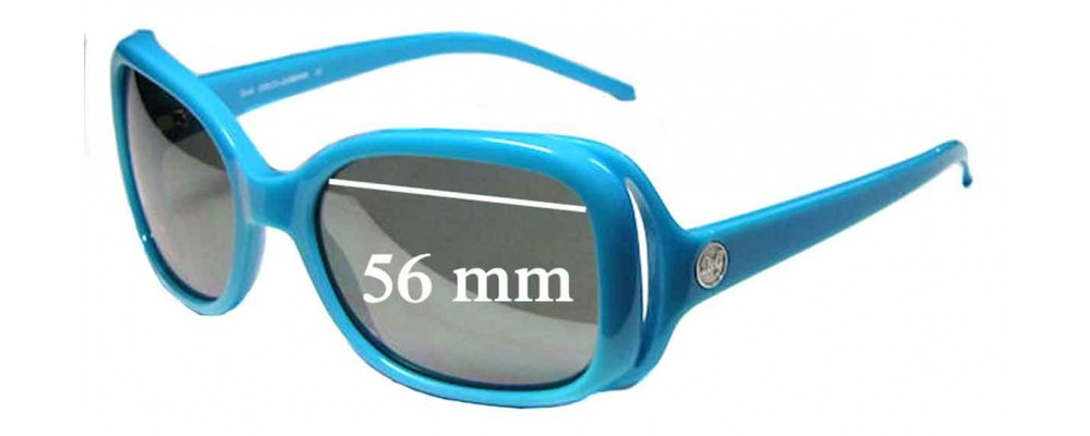 Dolce & Gabbana DG8024 Replacement Sunglass Lenses - 56mm Wide