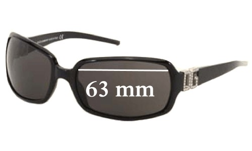 Dolce & Gabbana DG810S Replacement Sunglass Lenses- 63mm Wide