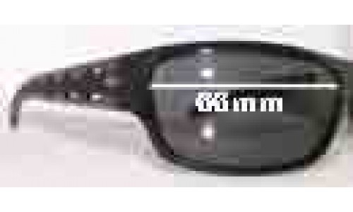 Diesel DS0066 Replacement Sunglass Lenses - 66mm wide