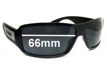 Diesel Alrar DS 0038 Replacement Sunglass Lenses - 66mm wide