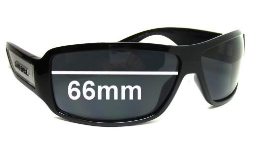 Diesel Alrar DS 0038 Replacement Sunglass Lenses - 66mm wide